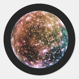PLANET JUPITER'S MOON - CALLISTO (solar system) ~ Classic Round Sticker