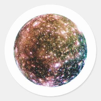 PLANET JUPITER'S MOON - CALLISTO (solar system) ~~ Classic Round Sticker