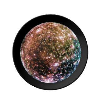 PLANET JUPITER'S MOON - CALLISTO (solar system) ~ Porcelain Plates