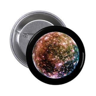 PLANET JUPITER'S MOON - CALLISTO (solar system) ~ Pinback Button
