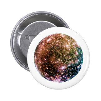 PLANET JUPITER'S MOON - CALLISTO (solar system) ~~ Pinback Button
