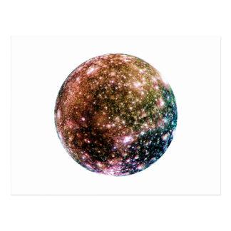 PLANET JUPITER'S MOON - CALLISTO (solar system) ~~ Postcard