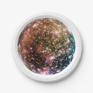 PLANET JUPITER'S MOON - CALLISTO (solar system) ~~ 7 Inch Paper Plate