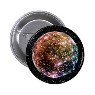 PLANET JUPITER'S MOON - CALLISTO Star Background 2 Pinback Button