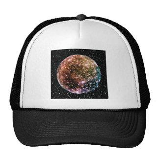 PLANET JUPITER'S MOON - CALLISTO Star Background 2 Trucker Hat