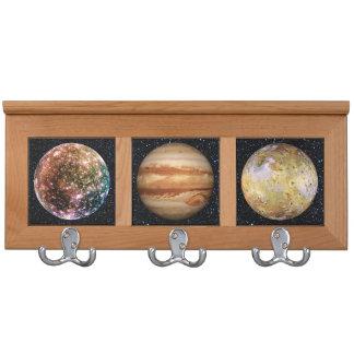 PLANET JUPITER'S MOON: CALLISTO (Star Background) Coat Rack