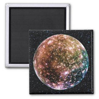 PLANET JUPITER'S MOON: CALLISTO (Star Background) Magnet