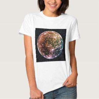 PLANET JUPITER'S MOON: CALLISTO (Star Background) T Shirt