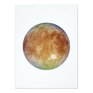 PLANET JUPITER'S MOON EUROPA (solar system) ~ Card