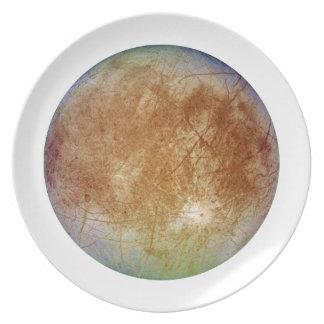 PLANET JUPITER'S MOON EUROPA (solar system) ~ Melamine Plate