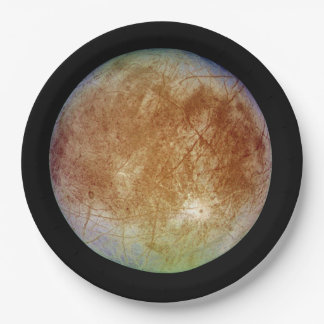 PLANET JUPITER'S MOON EUROPA (solar system) ~ Paper Plate