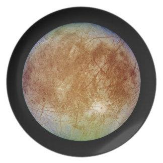 PLANET JUPITER'S MOON EUROPA (solar system) ~ Plate