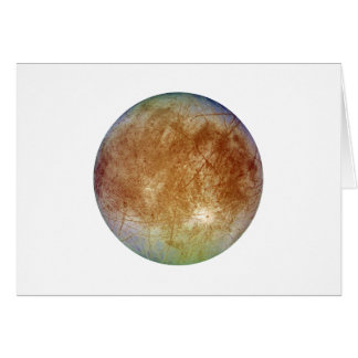 PLANET JUPITER'S MOON EUROPA (solar system) ~~.png Greeting Card