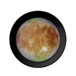 PLANET JUPITER'S MOON EUROPA (solar system) ~ Porcelain Plate