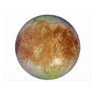 PLANET JUPITER'S MOON EUROPA (solar system) ~ Postcard