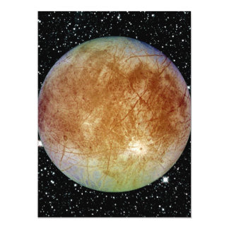 PLANET JUPITER'S MOON EUROPA star background Card