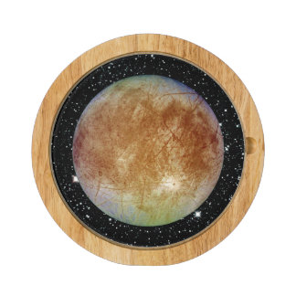 PLANET JUPITER'S MOON EUROPA star background Cheese Board