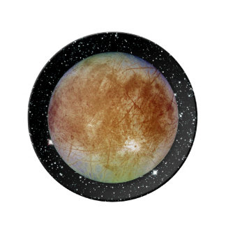 PLANET JUPITER'S MOON EUROPA star background Plate