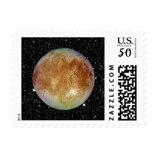 PLANET JUPITER'S MOON EUROPA star background Postage