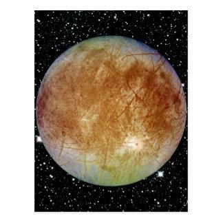 PLANET JUPITER'S MOON EUROPA star background Postcard