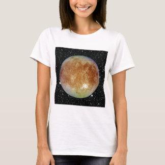 PLANET JUPITER'S MOON EUROPA star background T-Shirt