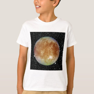 PLANET JUPITER'S MOON EUROPA star background T-Shirt