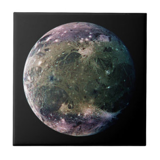 PLANET JUPITER'S MOON GANYMEDE natural v.2 Ceramic Tile