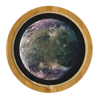 PLANET JUPITER'S MOON GANYMEDE natural v.2 Cheese Platter