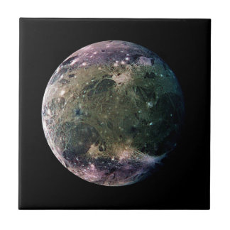 PLANET JUPITER'S MOON GANYMEDE (solar system) ~ Ceramic Tile