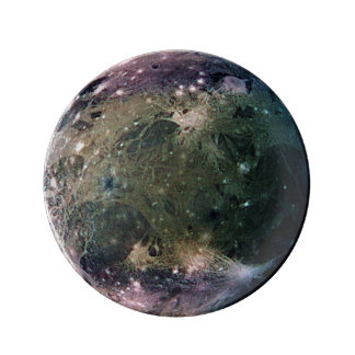 PLANET JUPITER'S MOON GANYMEDE (solar system) ~ Dinner Plate
