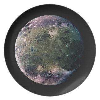 PLANET JUPITER'S MOON GANYMEDE (solar system) ~ Dinner Plates