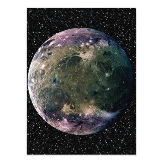 PLANET JUPITER'S MOON GANYMEDE star background ~ Card