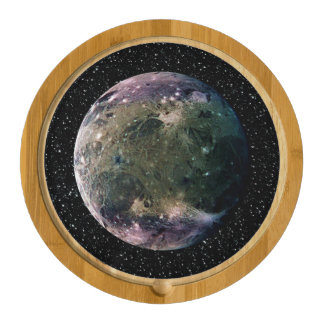 PLANET JUPITER'S MOON GANYMEDE star background ~ Cheese Platter
