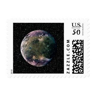 PLANET JUPITER'S MOON GANYMEDE star background ~ Postage