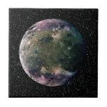 PLANET JUPITER'S MOON GANYMEDE star background ~ Small Square Tile