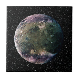 PLANET JUPITER'S MOON GANYMEDE star background ~ Tile