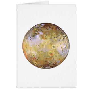 PLANET JUPITER'S MOON IO (solar system) ~~ Card