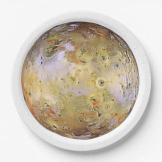PLANET JUPITER'S MOON IO (solar system) ~~ Paper Plate