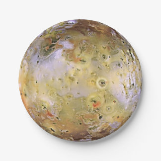 PLANET JUPITER'S MOON IO (solar system) ~ 7 Inch Paper Plate
