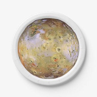 PLANET JUPITER'S MOON IO (solar system) ~~ 7 Inch Paper Plate