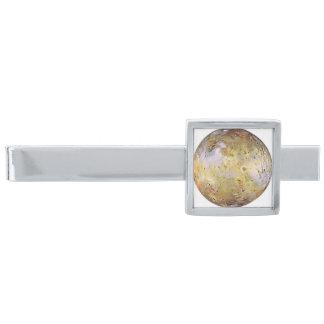 PLANET JUPITER'S MOON IO (solar system) ~ Silver Finish Tie Bar