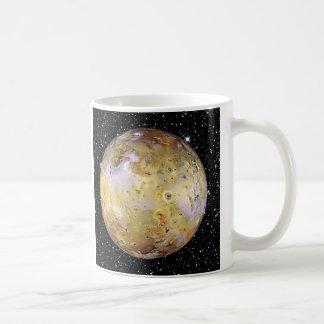 PLANET JUPITER'S MOON IO star background Classic White Coffee Mug