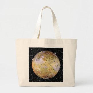PLANET JUPITER'S MOON IO star background Large Tote Bag