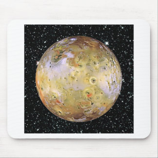 PLANET JUPITER'S MOON IO star background Mouse Pad