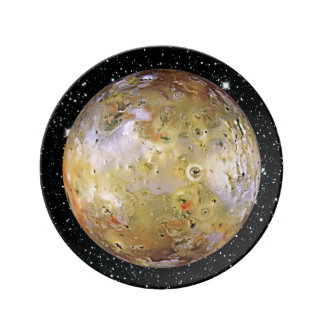 PLANET JUPITER'S MOON IO star background Plate
