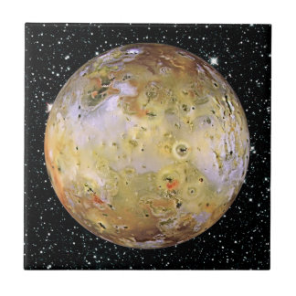 PLANET JUPITER'S MOON IO star background Tile