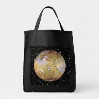 PLANET JUPITER'S MOON IO star background Tote Bag