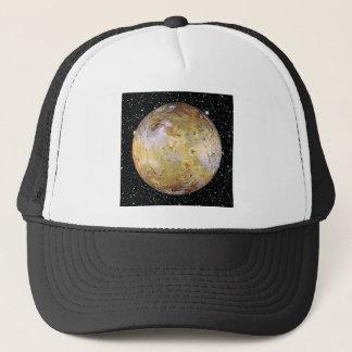 PLANET JUPITER'S MOON IO star background Trucker Hat