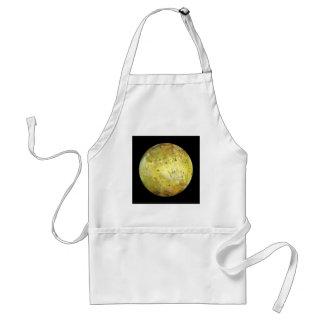 PLANET JUPITER'S MOON IO true color (solar system) Adult Apron