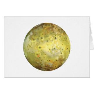 PLANET JUPITER'S MOON IO true color (solar system) Card